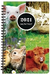 2021 Animal Monthly Planner 5.5 x 8.5