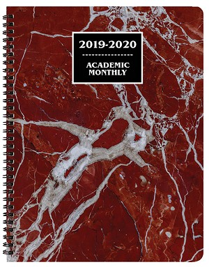 2019-2020 Marble Academic Monthly Appointment Planner 8.5 x 11
