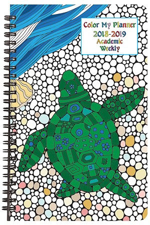 2018-2019 Academic Weekly Color My Planner 5.5 x 8.5