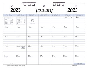 2020 Plastic Bound 3-Hole Punched Calendars 8.5 x 11
