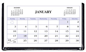 2020 Continental Triangular Vinyl Desk Calendar 5.25 x 2.75