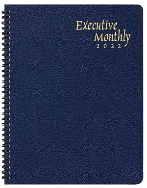 2020 Skivertex Executive Monthly Planner 9 x 11