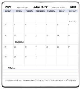 2020 Refill for MB-13 MB-15 and MB-17 Monthly Planners 3.5 x 6.5