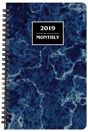 2019 Marble Monthly Planner 5.5 x 8.5