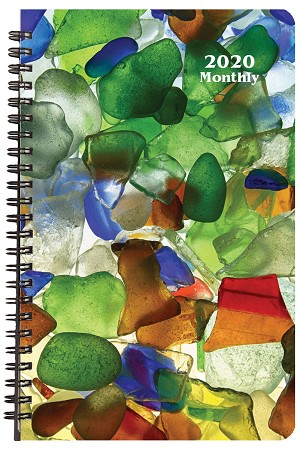 2020 Sea Glass Monthly Planner 5.5 x 8.5