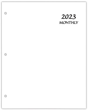 2020 Economy Monthly Planner 8.5 x 11 White Coated Paper Cover