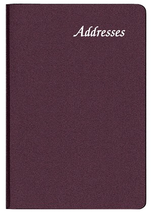 Small Address Book Frosted 3 x 4.5