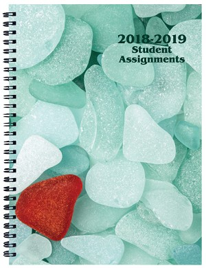 2018-2019 Sea Glass Student Assignment Planner 7 x 9.5