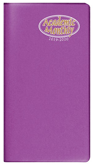2019-2020 Academic Monthly Pocket Planner TechnoColor 3.5 x 6.5