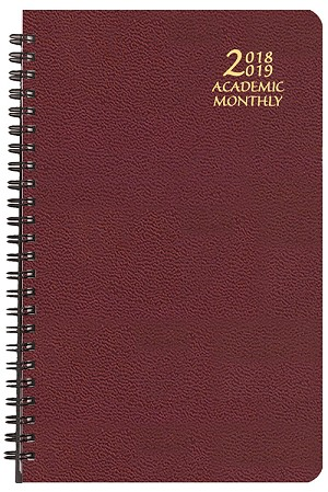 2018-2019 Academic Monthly Planner Skivertex 5.5 x 8.5