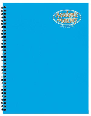 2018-2019 Academic Monthly Planner TechnoColor 8.5 x 11