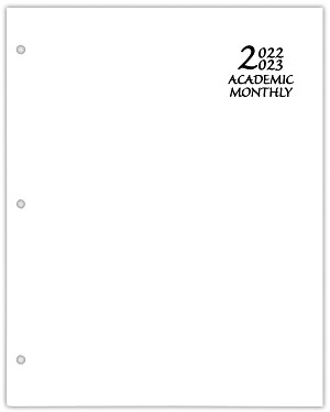 2020-2021 Academic Monthly Planner Economy White Paper Cover 8.5 x 11 Saddle-stitched
