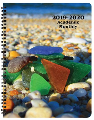 2018-2019 Sea Glass Academic Monthly Appointment Planner 8.5 x 11