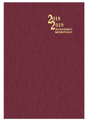 2018-2019 Shimmer Academic Monthly Planner 7 x 10