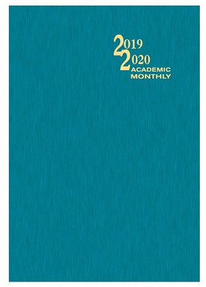 2019-2020 Shimmer Academic Monthly Planner 7 x 10