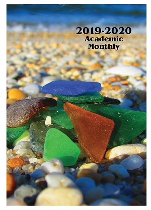 2018-2019 Sea Glass Academic Monthly Planner 7 x 10