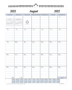 2020-2021 Adcademic 17 Month Wall Calendar 17 x 22 Wire Bound