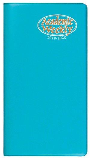 2018-2019 Academic Weekly Pocket Planner TechnoColor 3.5 x 6.5