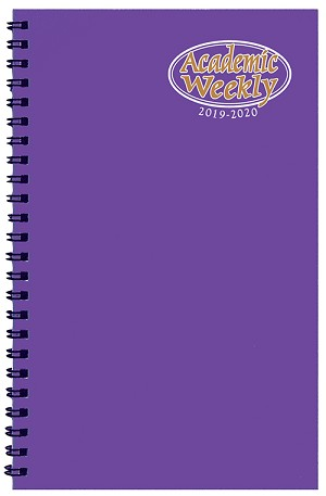 2019-2020 Academic Weekly Planner TechnoColor 5.5 x 8.5