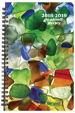 2018-2019 Sea Glass Academic Weekly Appointment Planner 5.5 x 8.5