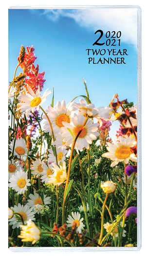 2020-2021 Floral Two Year Pocket Planner 3.5 x 6.5