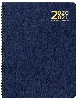 2020-2021 Skivertex Two Year Planner 8.5 x 11 Wire Bound