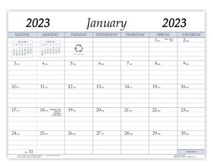 2020 Refill for VP-811 and VPM-811 Vinyl Calendar Pad 8.5 x 11