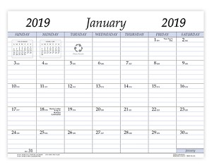 2019 Refill for VP-811 and VPM-811 Vinyl Calendar Pad 8.5 x 11