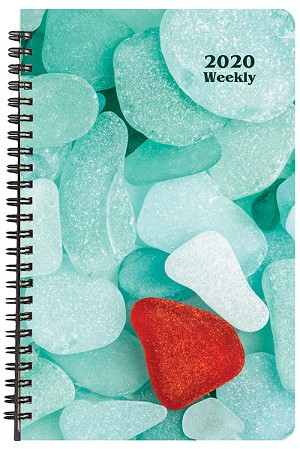 2020 Sea Glass Weekly Planner 5.5 x 8.5